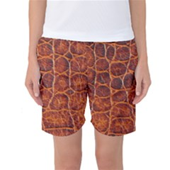 Crocodile Skin Texture Women s Basketball Shorts