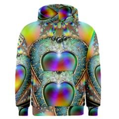 Rainbow Fractal Men s Pullover Hoodie