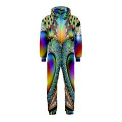 Rainbow Fractal Hooded Jumpsuit (kids)