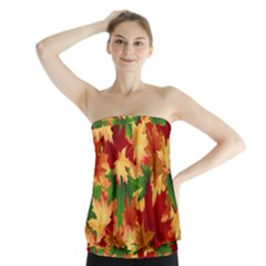 Autumn Leaves Strapless Top