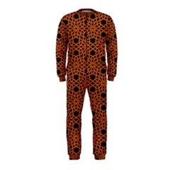 Triangle Knot Orange And Black Fabric Onepiece Jumpsuit (kids)