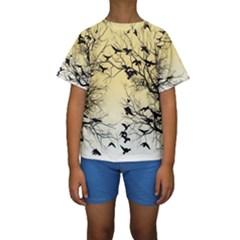 Crow Flock  Kids  Short Sleeve Swimwear