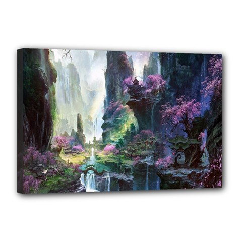 Fantastic World Fantasy Painting Canvas 18  X 12