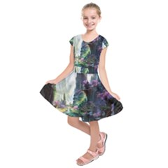Fantastic World Fantasy Painting Kids  Short Sleeve Dress