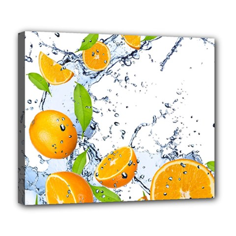 Fruits Water Vegetables Food Deluxe Canvas 24  X 20