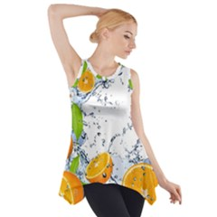 Fruits Water Vegetables Food Side Drop Tank Tunic