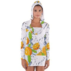 Fruits Water Vegetables Food Long Sleeve Hooded T Shirt