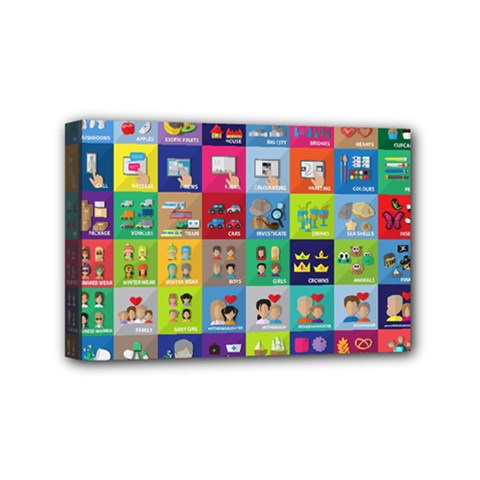 Exquisite Icons Collection Vector Mini Canvas 6  X 4