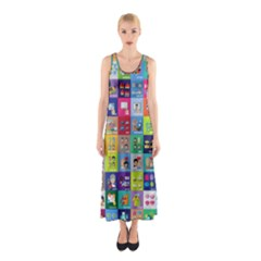 Exquisite Icons Collection Vector Sleeveless Maxi Dress