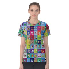 Exquisite Icons Collection Vector Women s Cotton Tee