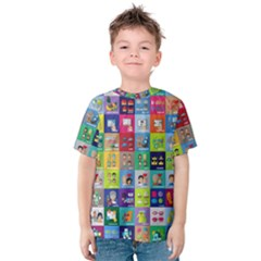 Exquisite Icons Collection Vector Kids  Cotton Tee