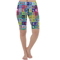 Exquisite Icons Collection Vector Cropped Leggings