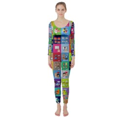 Exquisite Icons Collection Vector Long Sleeve Catsuit