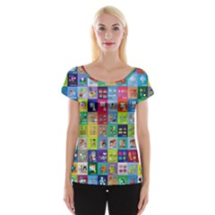 Exquisite Icons Collection Vector Cap Sleeve Tops