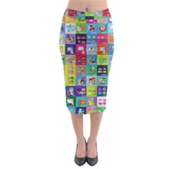 Exquisite Icons Collection Vector Midi Pencil Skirt