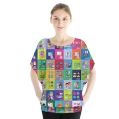 Exquisite Icons Collection Vector Blouse
