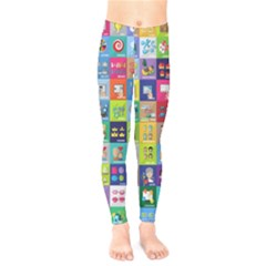 Exquisite Icons Collection Vector Kids  Legging