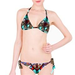 Elephant Stained Glass Bikini Set