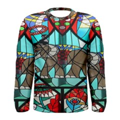 Elephant Stained Glass Men s Long Sleeve Tee