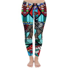 Elephant Stained Glass Classic Winter Leggings