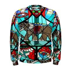 Elephant Stained Glass Men s Sweatshirt