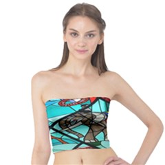 Elephant Stained Glass Tube Top