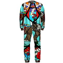 Elephant Stained Glass Onepiece Jumpsuit (men)