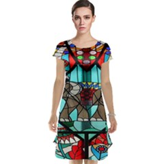 Elephant Stained Glass Cap Sleeve Nightdress