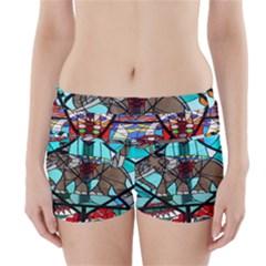 Elephant Stained Glass Boyleg Bikini Wrap Bottoms