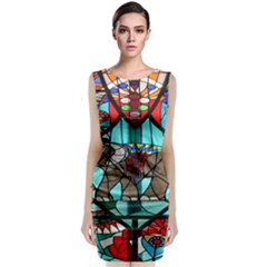 Elephant Stained Glass Classic Sleeveless Midi Dress