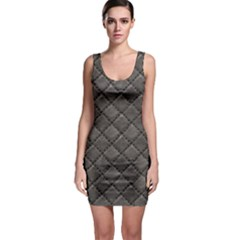 Seamless Leather Texture Pattern Bodycon Dress