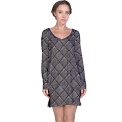 Seamless Leather Texture Pattern Long Sleeve Nightdress