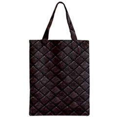 Seamless Leather Texture Pattern Zipper Classic Tote Bag