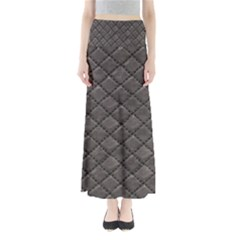 Seamless Leather Texture Pattern Full Length Maxi Skirt
