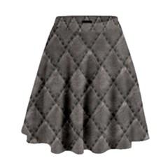Seamless Leather Texture Pattern High Waist Skirt