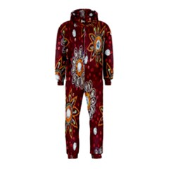 India Traditional Fabric Hooded Jumpsuit (kids)