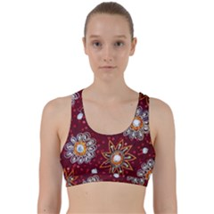 India Traditional Fabric Back Weave Sports Bra