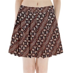 Art Traditional Batik Pattern Pleated Mini Skirt