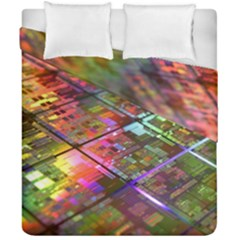 Technology Circuit Computer Duvet Cover Double Side (california King Size)