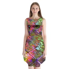 Technology Circuit Computer Sleeveless Chiffon Dress