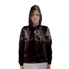 Fractalius Abstract Forests Fractal Fractals Hooded Wind Breaker (women)