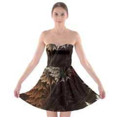 Fractalius Abstract Forests Fractal Fractals Strapless Bra Top Dress