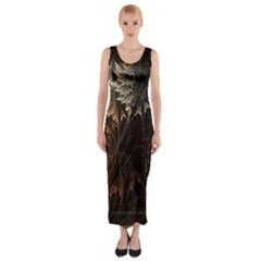 Fractalius Abstract Forests Fractal Fractals Fitted Maxi Dress