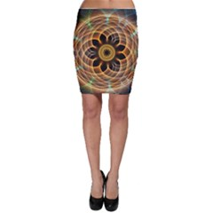 Mixed Chaos Flower Colorful Fractal Bodycon Skirt