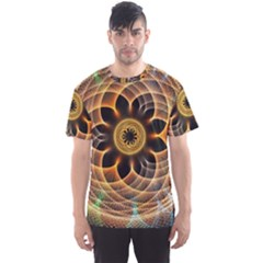 Mixed Chaos Flower Colorful Fractal Men s Sports Mesh Tee