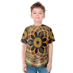 Mixed Chaos Flower Colorful Fractal Kids  Cotton Tee