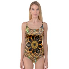 Mixed Chaos Flower Colorful Fractal Camisole Leotard