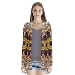 Mixed Chaos Flower Colorful Fractal Drape Collar Cardigan