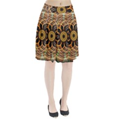 Mixed Chaos Flower Colorful Fractal Pleated Skirt