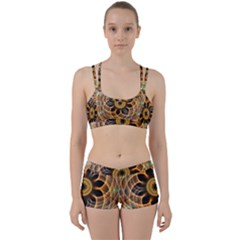 Mixed Chaos Flower Colorful Fractal Women s Sports Set